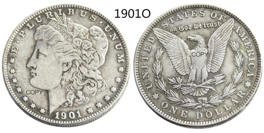 США 1901-O Морган доллар Посеребренная копия монеты