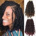 LISI GIRL Passion твист волосы Вязание крючком удлинители кос синтетические вязаные крючком весенние плетеные волосы для пушистых волос