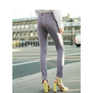 Image 2 - Inmanミディアムハイウエストスリム韓国のファッションスリムすべて一致した女性カジュアル鉛筆のズボン