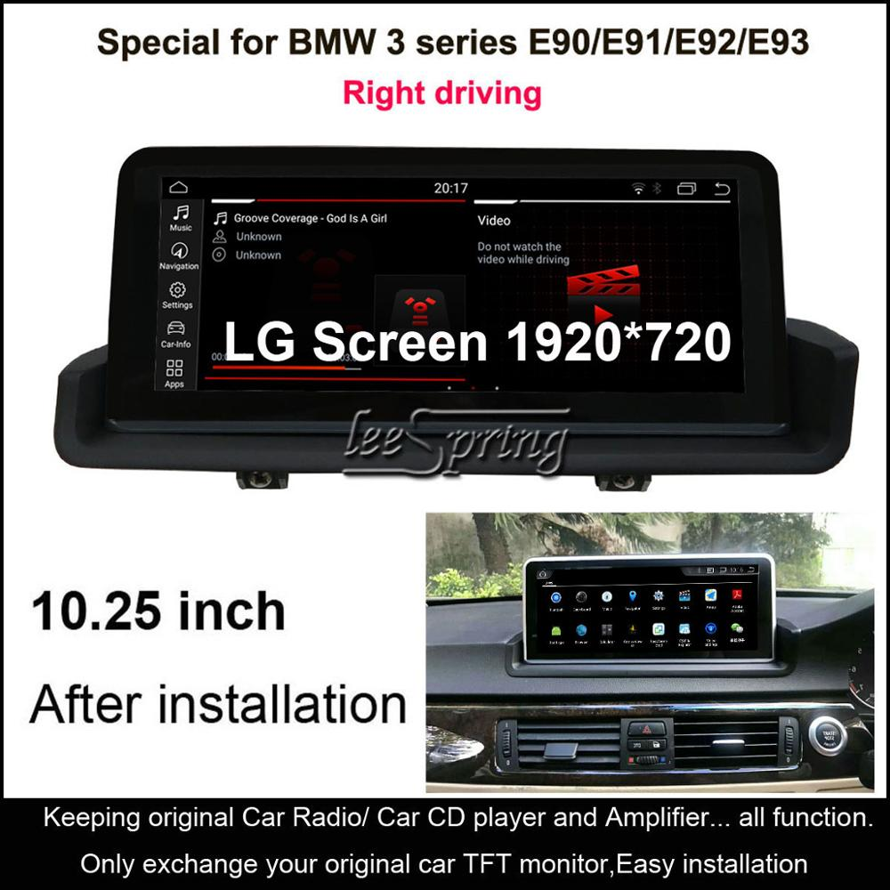 <font><b>10.25</b></font> inch IPS Screen <font><b>Android</b></font> 10.0 Car GPS Navigation for <font><b>BMW</b></font> 3 Series <font><b>E90</b></font> E91 E92 E93 (2005-2012) Right driving image