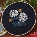 DIY вышивка цветок ручная работа трехмерная вышивка картина ручной работы Набор для творчества, включая бамбуковую вышивку