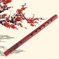 1 шт. Китайский традиционный 6 отверстий бамбуковая флейта Вертикальная флейта кларнет студенческий музыкальный инструмент деревянный цве...