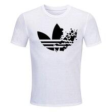 цена на Nuevas camisetas divertidas de algodón de verano de manga corta Camiseta hombres moda marea marca estampado rojo camiseta hombre
