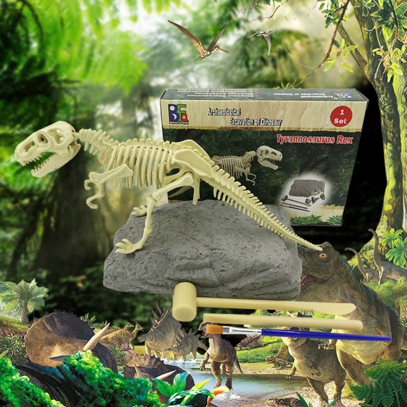Educational Toys Arts Crafts DIY Toys  Intelligence Development  Dinosaur Series  DIY Rchaeological  Mining Dinosaur Craft Toys