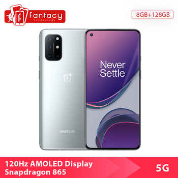 Global ROM OnePlus 8T 8 T Smartphone Snapdragon 865 5G 6.55'' 120Hz AMOLED Display 48MP Quad Camera 4500 mAh NFC