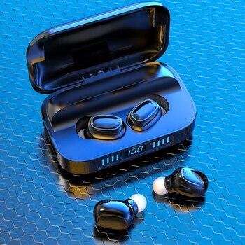TWS Wireless Headphones 9D Stereo Wirelesss Bluetooth Earphone Sports Waterproof Headsets Noise Cancel Earbuds With Microphone bluetooth 5 0 earphones tws true wireless earphone headphones sports earbuds hifi bass stereo headsets with dual microphone