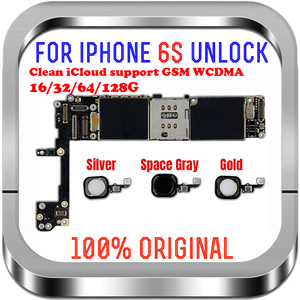 Image 2 - Tam cips unlocked 16GB 32GB 64GB 128GB iphone 6S anakart olmadan parmak izi iphone 6S anakart
