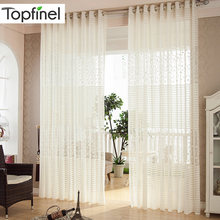 Topfinel Modern Window Curtains for Living Room Kitchen Luxury European Sheer Curtain Panels Window Treatment Curtians Drape
