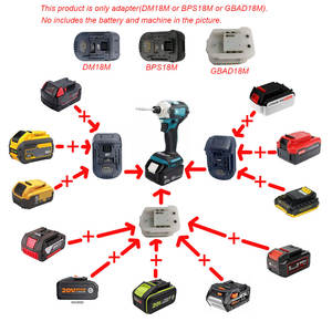 Adapter Worx Decker Li-Ion-Battery Aeg Ridgid DEVON Dewalt 18v-Tool Milwaukee Stanley