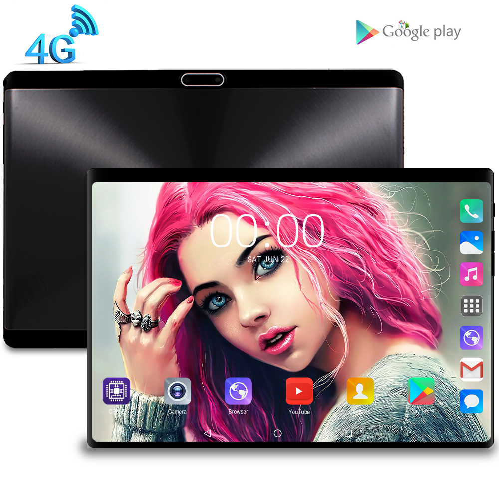 2020 New Tablet Pc 10.1 Inch Android 9.0 Tablets 8GB+128GB Octa Core 3g 4g LTE Phone Call IPS Pc Tablet WiFi GPS 10 Tablets