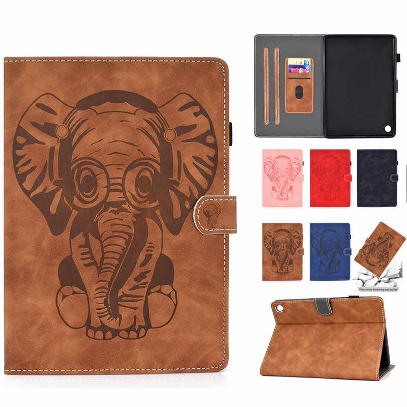 Print Elephant Case for Amazon Fire HD 8 Plus Tablet (10th Gen ,2020 Release) Folding Stand Cover for Amazon Fire Hd8 2020 Case