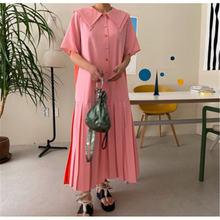 Новое поступление 2020 летнее платье в стиле пэчворк с воротником