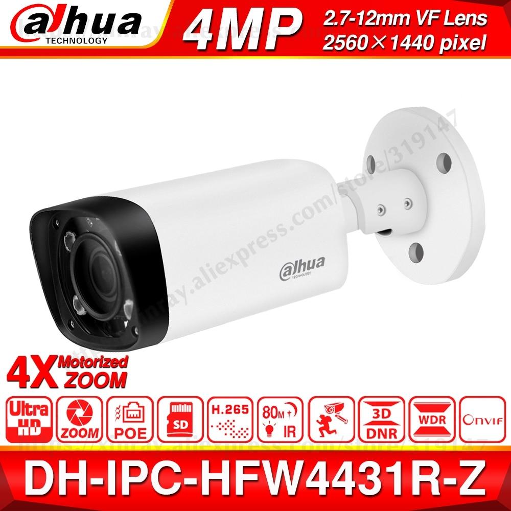 Dahua IPC-HFW4431R-Z 4MP Night Camera 80m IR 2.7~12mm VF Lens Motorize Zoom Auto Focus Bullet IP Camera POE Security
