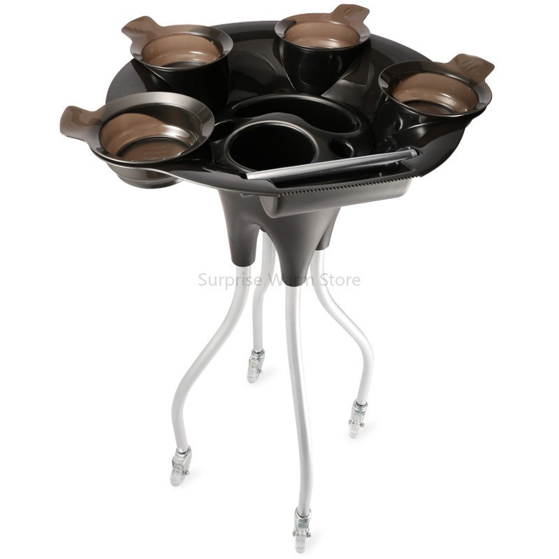 NEW Hair Salon Instrument Tray Hairdressing Tool Device Hair Salon Trolley Heat-resistant ABS Hairs Color Cream Mixing Bowl