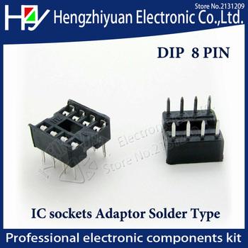 Hzy 8 pin dip gniazdo ic 10 sztuk 2 54mm przez otwór wybity pin otwarta ramka IC gniazdo Dip skok przez otwór Dip złącza wtykowe tanie i dobre opinie ETERNALFAR CN (pochodzenie) Rohs 8 pin dip ic socket 8pin DIP IC sockets