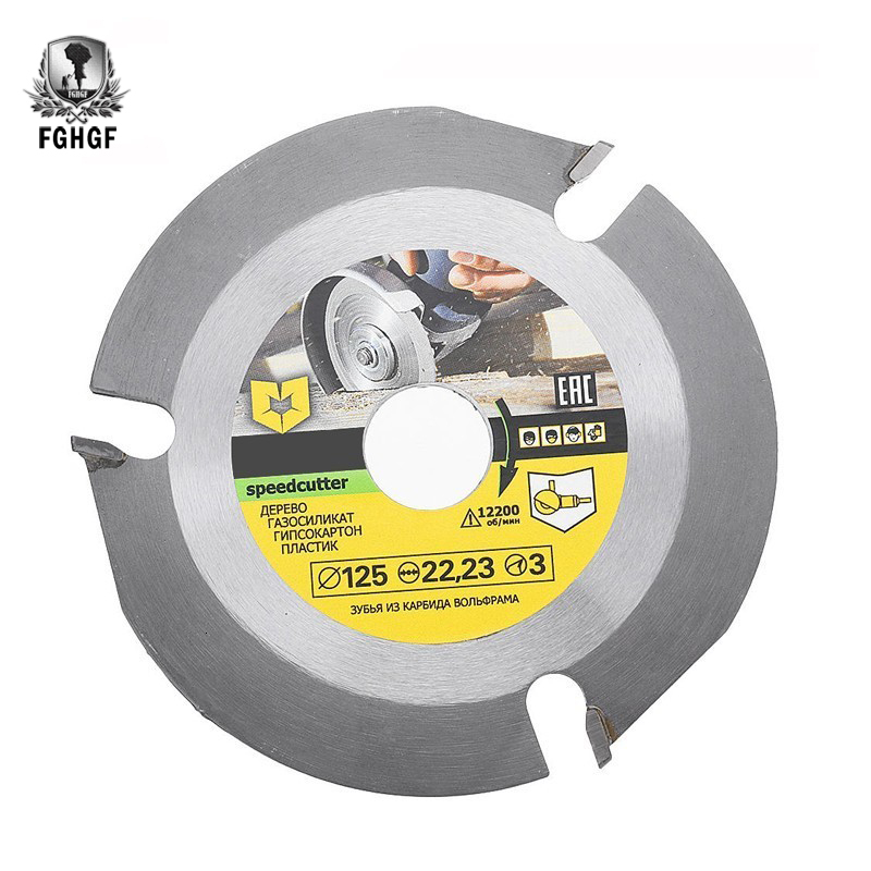 115/125mm 3 Teeth Circular Blade Saw Multitool Disc Carbide Tipped Wood Cutting Machine Electric Grinder Power Tool Accessories