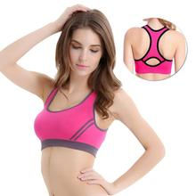 High Stretch Breathable Sports Bra Top Yoga Women Removable Pad Female