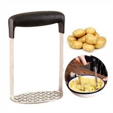 Толкушка из нержавеющей стали картофельный пресс для картофельное пюре сливочный пюре картофель овощи и фруктовый Пресс дробилка