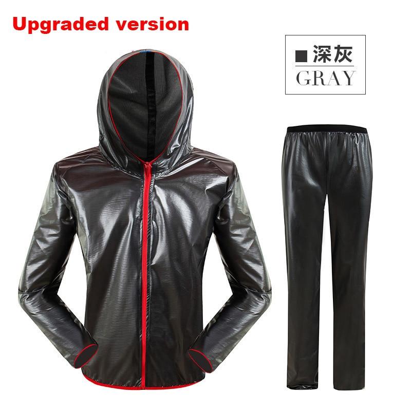 Adults Waterproof Raincoat Suit  Sports Outdoor Fishing Rain Jacket Women Upgraded Unisex Riding Motorcycle Rainwear 60YY016