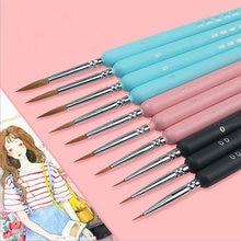 Розовая ручка с крючком Акварельная Мягкая Краска для волос