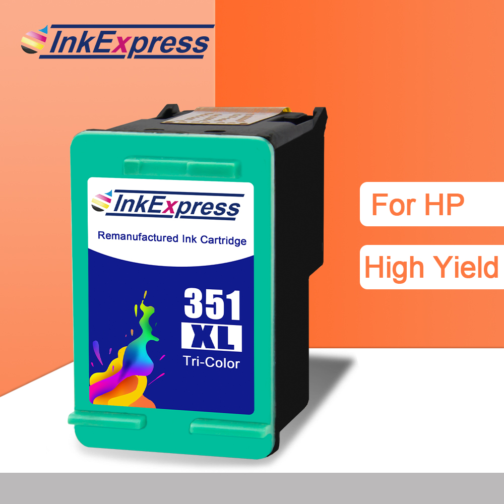 InkExpress 350XL <font><b>351XL</b></font> Ink Cartridge Compatible for <font><b>HP</b></font> 350XL <font><b>351XL</b></font> Ink Cartridge Deskjet D4260 D4280 D4360 OfficeJet J6405 J6450 image