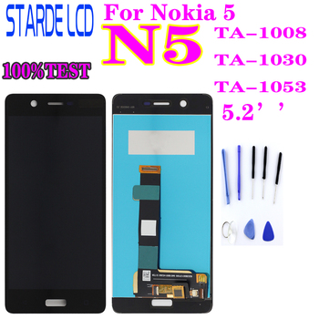Tested AAA STARDE Replacement LCD for Nokia 5 N5 TA-1008 TA-1030 TA-1053 LCD Display Touch Screen Assembly Digitizer Assembly 100% new for nokia 6 2018 nokia 6 1 ta 1043 ta 1045 ta 1050 ta 1054 ta 1068 lcd display with touch screen complete assembly