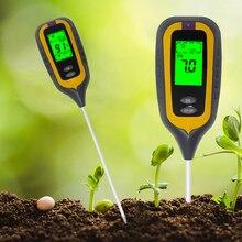 اختبار التربة 4 في 1 التربة pH مقياس الرطوبة ميزان الحرارة الرطوبة أشعة الشمس مراقب مع الخلفية الخضراء السيارات قبالة وظيفة