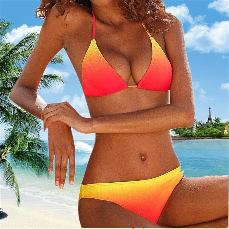 Bikini 2020 Color Changed Swimsuit Women Swimwear Push Up Bikini Set Biquini Brazilian Summer Beach Bathing Suit Swim Wear