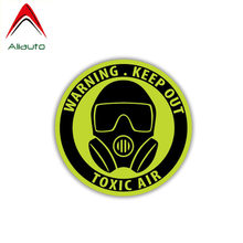 Aliauto Warning Car Sticker Keep Out Toxic Air Decal Accessories PVC for Toyota Auris Mercedes W124 Lifan Passat B8,11cm*11cm(China)