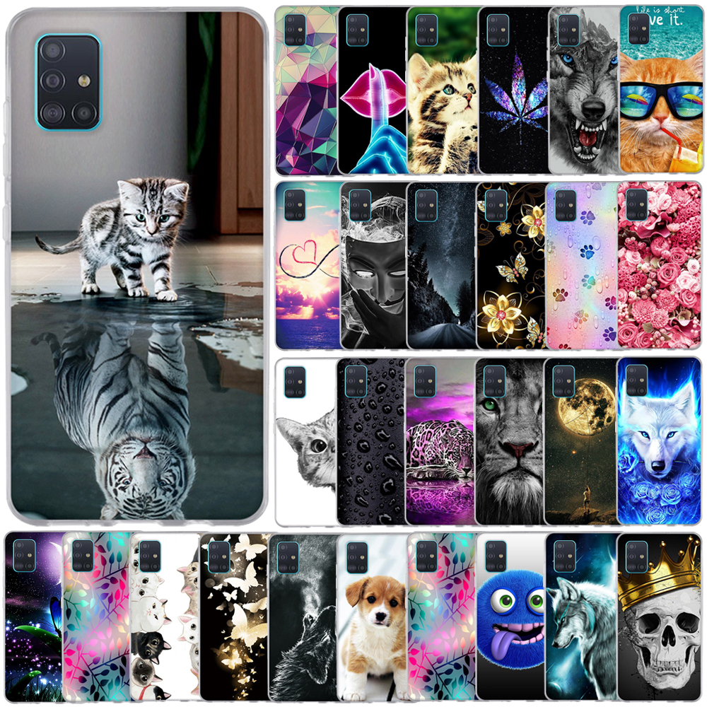For Samsung Galaxy A51 Case 2019 Fashion Silicone Soft TPU Back Cover For Samsung A51 A 51 Phone Cases Galaxy A51 Cover Bumper