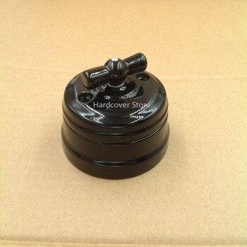 цена на European Ceramic 4-speed Knob Switch Outdoor Lighting High Frequency Ceramic Wall Light Switch