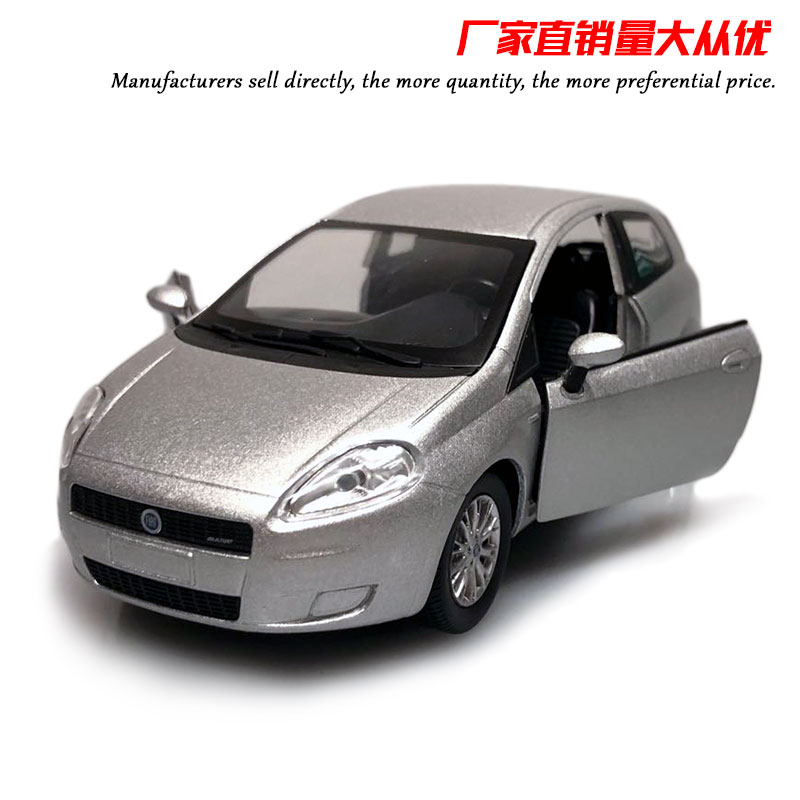 NEWRAY 1/24 Scale Car Model Toys FIAT Grande Punto 16.5CM Length Diecast Metal Car Model Toy For Collection,Gift,Kids