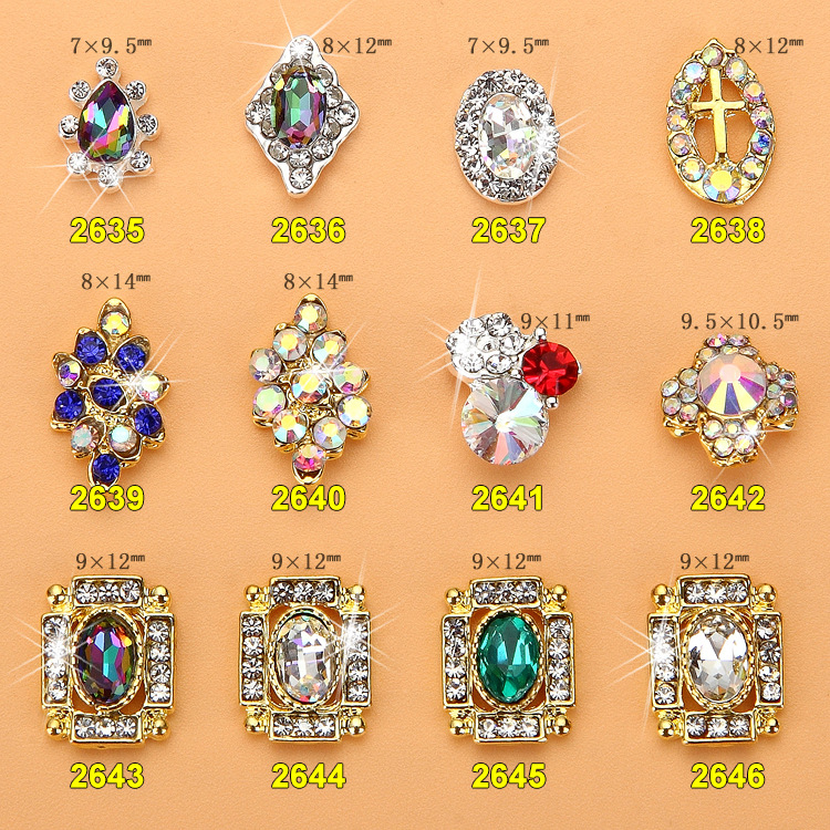 Nail Ornament New Style Japanese Korean Flamboyant Diamond K9 Material Super Shiny Nail Jewelry Alloy Nail Rhinestone Nail Stick