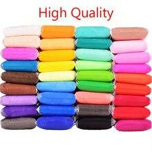 Alta qualidade 36 cores de ar seco super leve argila polímero crianças educação precoce brinquedos diy colorido slimes neve lama massa plasticina