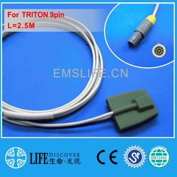 Cabo longo criança e 9pin pediátrica spo2 sensor para TRITON monitor paciente