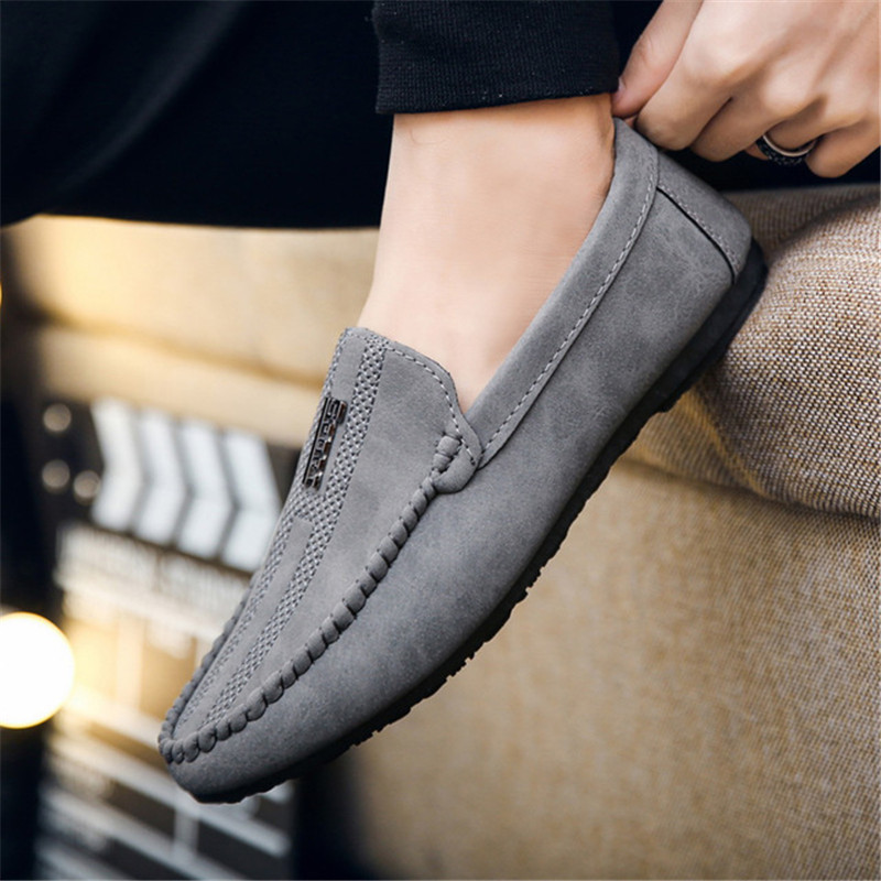 Leather Men Shoes Luxury Brand 2019 Italian Casual Mens Loafers Moccasins Breathable Slip On Black Man Driving Designer Shoes