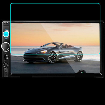 153x85MM Universal Tempered Glass Screen Protecor for Podofo 2 din Car Multimedia Player 7010B Audio Stereo radio 7 HD MP5 image