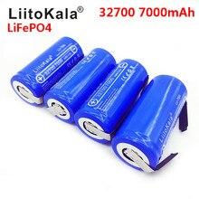 LiitoKala Lii 70A 3.2 فولت 32700 LiFePO4 7000 مللي أمبير بطارية 35A التفريغ المستمر الحد الأقصى 55A بطارية عالية الطاقة + ورقة النيكل