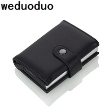 Weduoduo 2019 คุณภาพสูงPUหนังบัตรเครดิตRFIDการ์ดRFIDออกแบบใหม่Bankกรณีบัตรธุรกิจคู่มือ