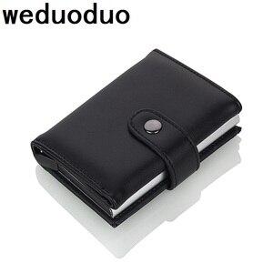 Image 1 - Weduoduo 2019 גבוהה באיכות עור מפוצל אשראי כרטיס בעל Rfid כרטיס מחזיק Rfid חדש עיצוב בנק כרטיס עסקי מקרי כרטיס כיס