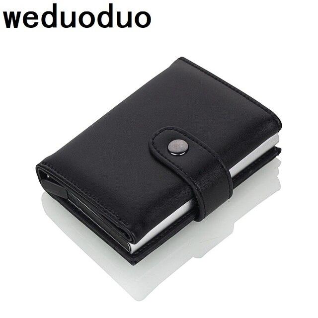 Weduoduo 2019 גבוהה באיכות עור מפוצל אשראי כרטיס בעל Rfid כרטיס מחזיק Rfid חדש עיצוב בנק כרטיס עסקי מקרי כרטיס כיס