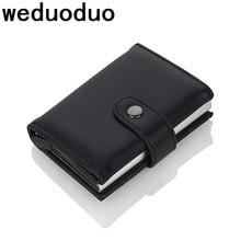 Weduoduo 2019 yüksek kalite PU deri kredi kart tutucu RFID kart tutucu RFID yeni tasarım banka kartı kılıfları kartvizit cebi