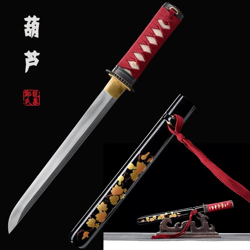 Handmade Tanto Small Sword 1045 Carbon Steel Japanese Katana Knife Letter Opener Sharp Edge