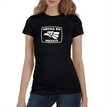 Camiseta de Hecha en México para mujer, remera lista para enviar