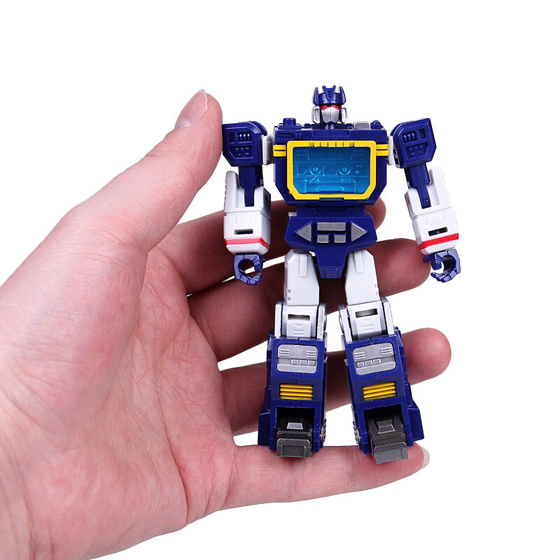 Image 2 - Soldiers Warrior HS Transformation Soundwave With Laserbeak G1 Pocket War Action Figure Robot Toys HS03Action & Toy Figures   -