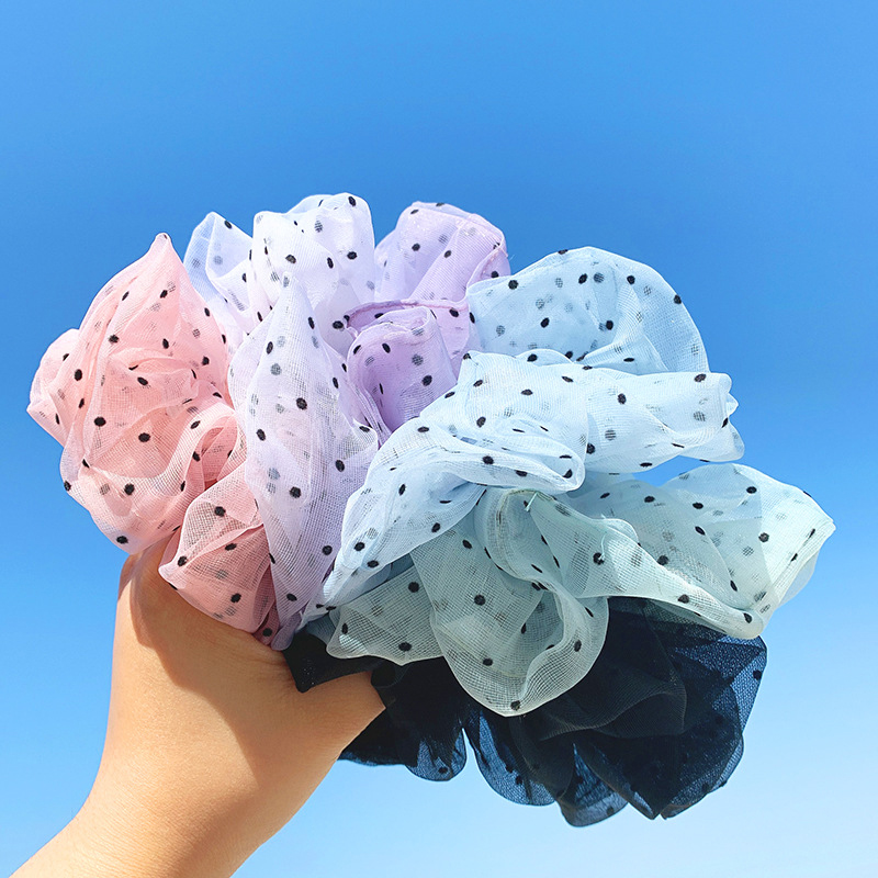 Wave Point Hair Ties Organza Girls Sweet Hair Rubber Band Soft Scrunchies Ornaments Hair Rope Hair Accessories Korea Hairband