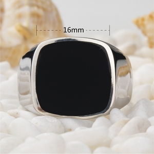Image 2 - Eulonvan luxury Charms Engagement wedding 925 sterling silver Jewelry rings For Men Black Resin dropshipping S 3816 size 6   13