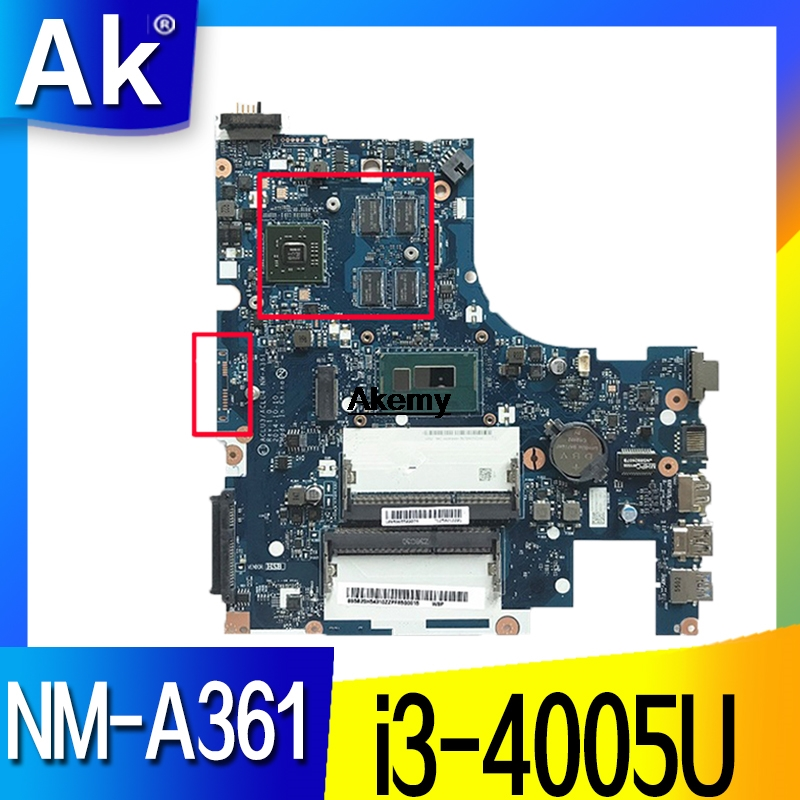 <font><b>NM</b></font>-<font><b>A361</b></font> motherboard for <font><b>Lenovo</b></font> G50-80 laptop motherboard ACLU3/ACLU4 <font><b>NM</b></font>-<font><b>A361</b></font> R5 GPUnotebook I3-4005 CPU original Test image