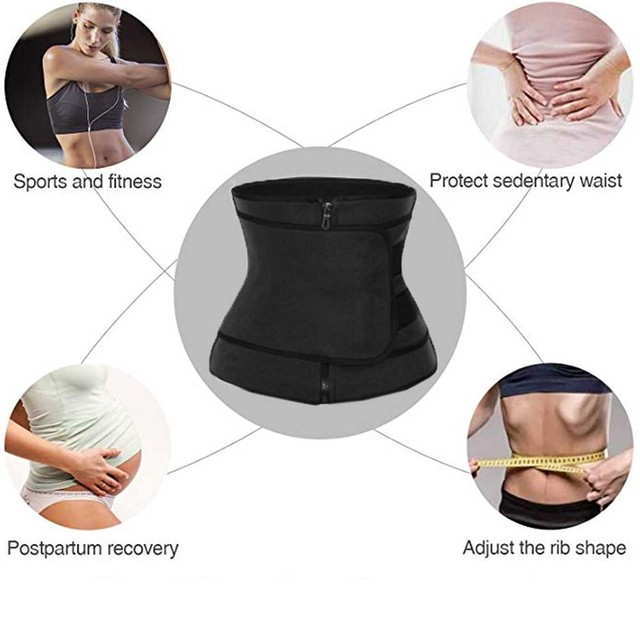 Neoprene Sweat Waist Trainer Zipper Corset Body Shaper