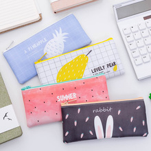 Fresh new pencil case creative cute square zipper